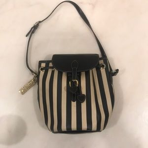 MOSCHINO leather striped vintage bucket bag
